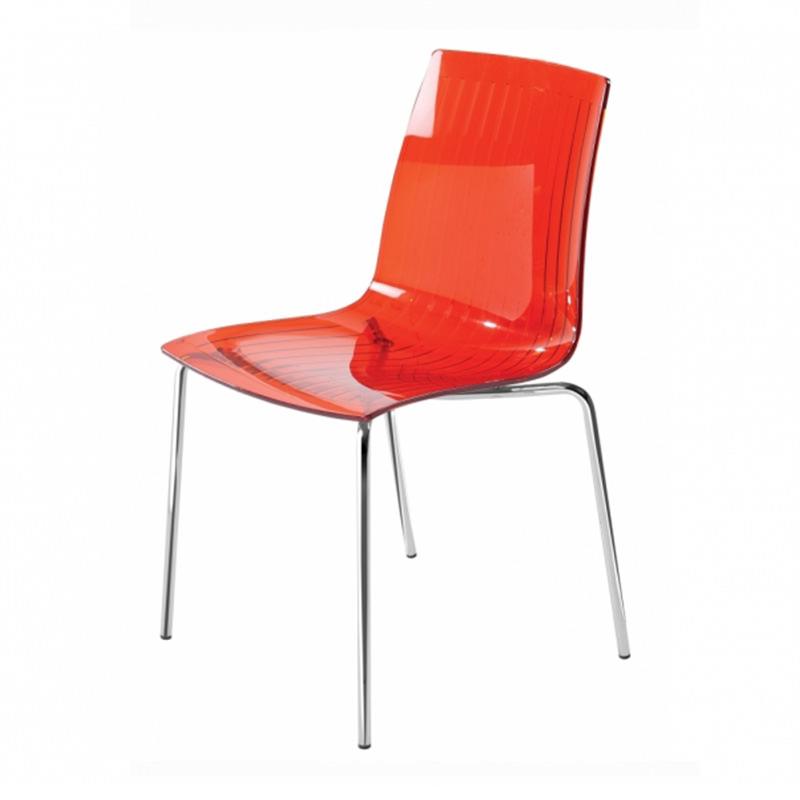 Transparant rode kantinestoel Papatya X-treme S Officetopper kantoormeubelen