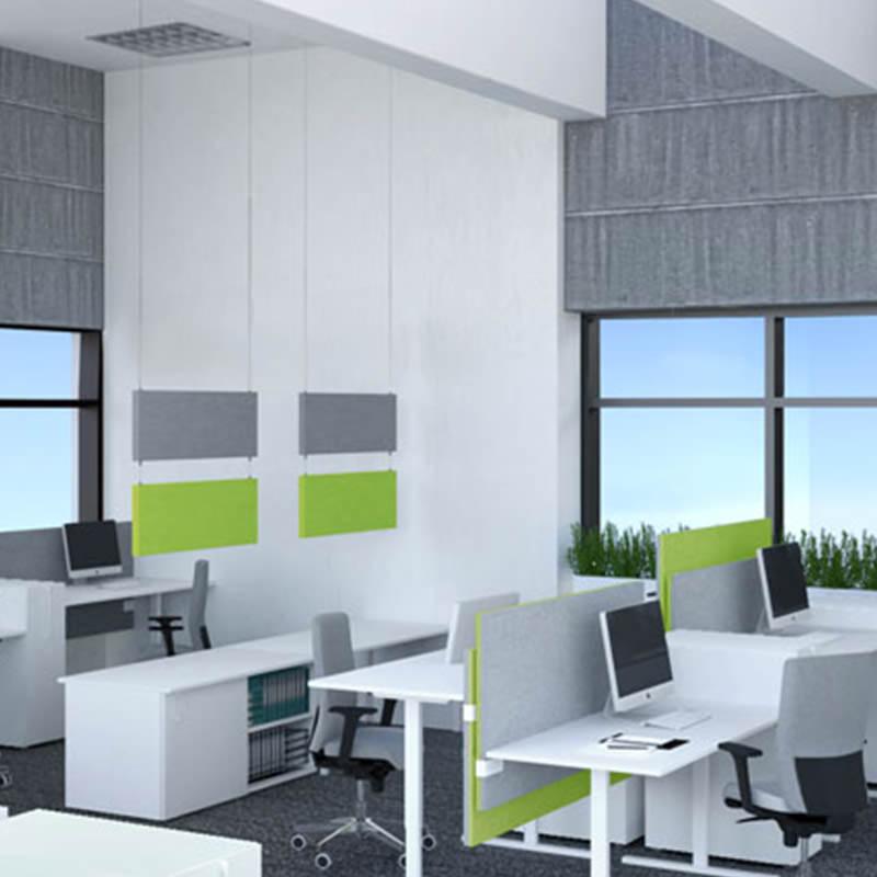 Verbeter u kantoor akoestiek met hangende akoestische panelen Officetopper.com