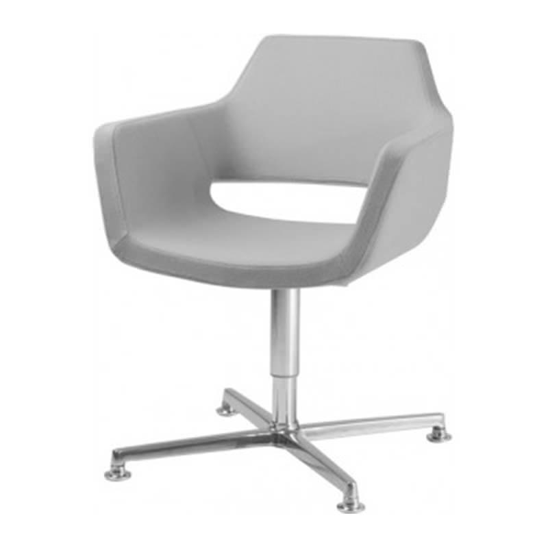 Vergader fauteuil Nano met 4 teens Donati kruisvoet van Huislijn Officetopper kantoor fauteuils