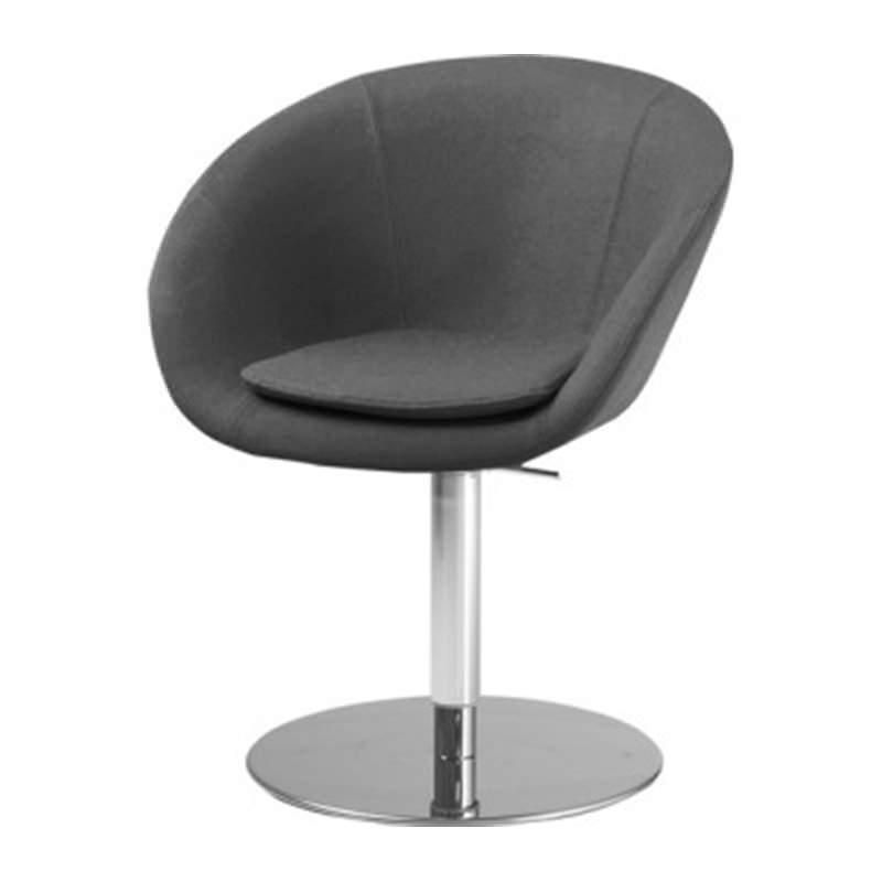 zwarte kuip fauteuil Giro met kolomvoet huislijn