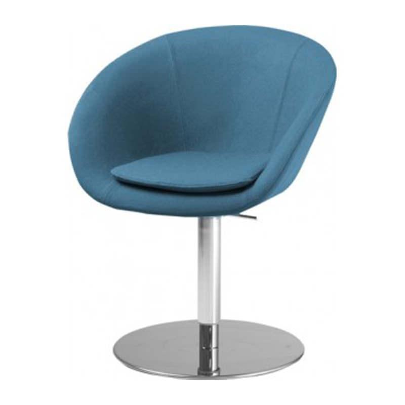 Vergader fauteuil Giro met ronde kolomvoet Officetopper fauteuils voor kantoor kopen (1)