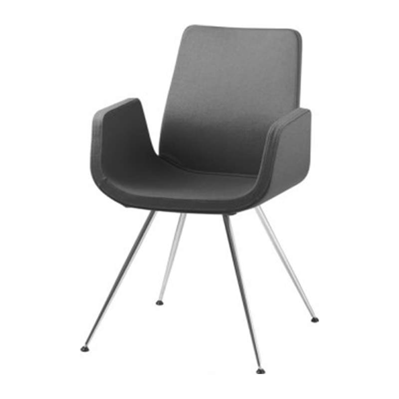 Zwarte vergader fauteuil Officetopper