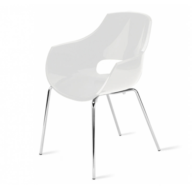 Vergaderstoel Paptya Opal Officetopper Solide wit designstoel