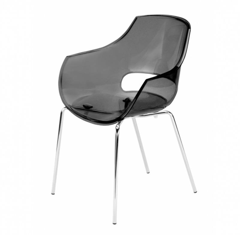 Vergaderstoel Paptya Opal Officetopper zwart transparant designstoel