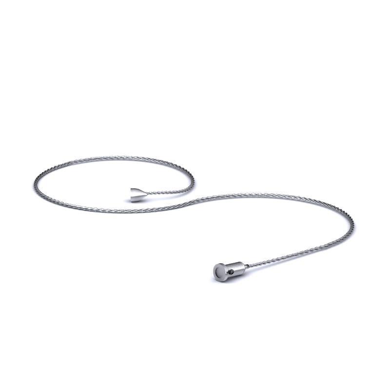 Verstelbare ijzeren kabel voor het dubbel hangend akoestisch paneel Modus Officetopper