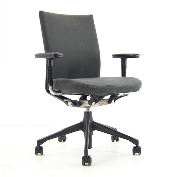 Gebruikte bureaustoel Vitra met antraciet stoffering  | www.officetopper.com