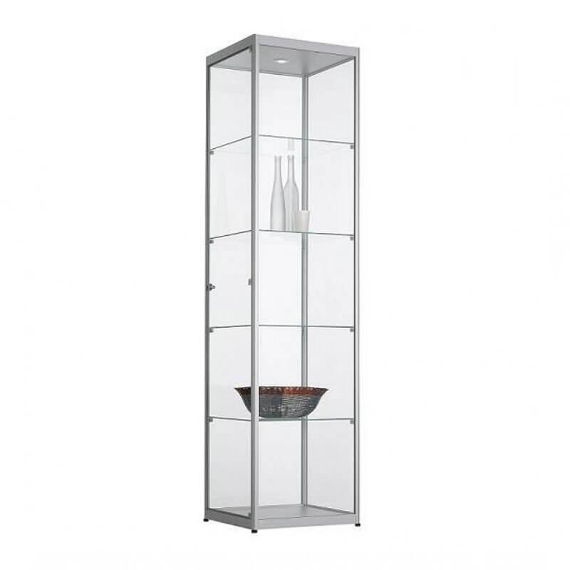 60cm Brede Vitrinekast aluminium Officetopper vitrines voor kantoor