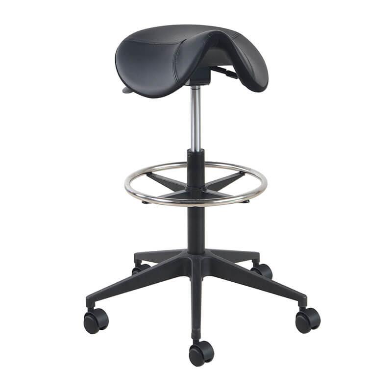 Zadelkruk met voetring en zwarte kruisvoet Officetopper kantoormeubels