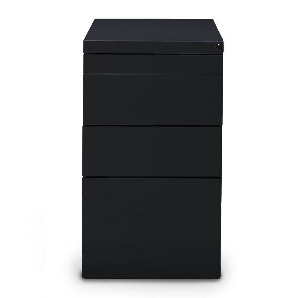 Staand-ladeblok-hangmappen-Elite-zwart-ral-9005-Officetopper