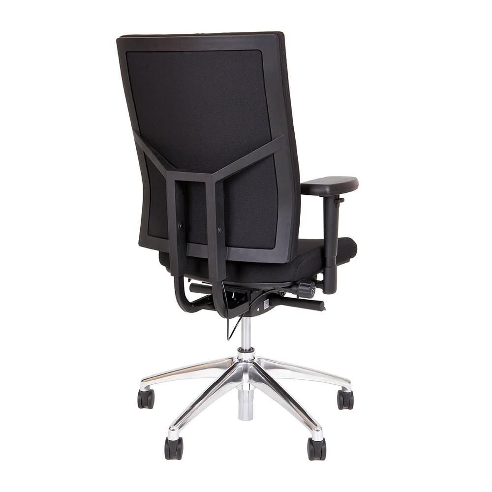 zwarte npr bureaustoel met chromen kruisvoet Officetopper